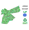 ecology green collage jordan map vector image vector image