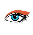 eye on white background eyes art woman eye vector image