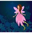 fairy firefly vector image vector image