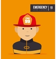 firefighter man cartoon vector image