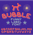 funny label typeface vector image
