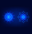 glowing neon snowflakes for new year and christmas vector image vector image