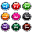 golf club vehicle set 9 collection vector image vector image