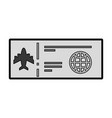 grey airplane ticket cartoon vector image