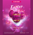 happy easter party flyer design party club vector image vector image