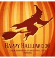 Happy halloween greeting card with witch carved in vector image vector image
