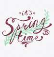 Its Spring Time Banner vector image