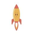 kawaii rocket startup business cartoon vector image