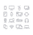 large collection black and white device icons vector image vector image