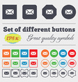 Mail Envelope Message icon sign Big set of vector image