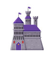 medieval fortress fairytale castle with towers vector image vector image