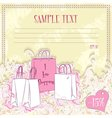 Message card with shopping bags vector image vector image