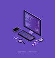 modern flat design isometric concept of business vector image vector image