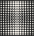 monochrome halftone seamless pattern with circles vector image