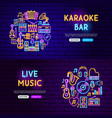 music website banners vector image vector image