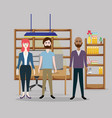 office coworkers cartoons vector image vector image