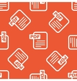 Orange PDF file pattern vector image vector image