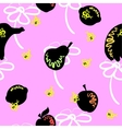 Pink Fruit Pattern vector image vector image