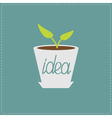 Plant in the pot Growing idea concept vector image