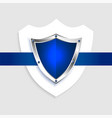 protection shield empty blue symbol background vector image vector image