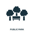 public park icon monochrome style design from vector image vector image