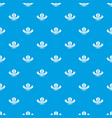 robot smart pattern seamless blue vector image vector image