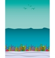 seabed landscape isolated icon vector image