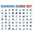 set banking icons glyph for mobile and web apps vector image vector image