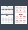 set horizontal and vertical pocket calendar on vector image vector image