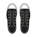 Silhouette simple symbol of gumshoes sneakers vector image vector image