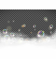 soap foam with bubbles isolated on transparent vector image vector image