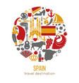 spain travel destination promotional poster vector image