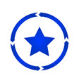 star turn icon vector image vector image