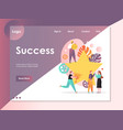 success website landing page design vector image