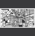 syracuse usa city map in black and white color in vector image