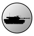 Tank button vector image