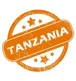 Tanzania grunge icon vector image vector image
