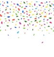 template of vibrant colorful confetti vector image