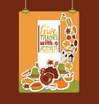 thanksgiving food traditional turkey on vector image vector image