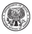 the seal of the state department of the united vector image vector image