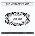 The vintage frame template vector image vector image