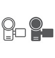 video camera line and glyph icon electronic vector image