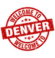 welcome to denver red stamp vector image vector image