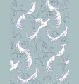 white birds vector image