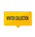 winter collection price tag vector image vector image