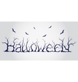 Hand drawn halloween lettering vector image
