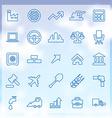 25 economy icons vector image vector image