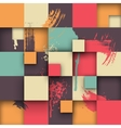 Abstract Texture with Squares and Paint Splashes vector image vector image