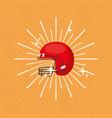 american football helmet sport sunburst color vector image