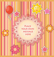 baby toy lacy frame greeting card decor kids vector image vector image